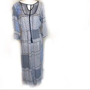 Fleur Bleue Maxi Dress